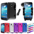 S Line Gel Mobile Case Cover - Car Holder Car Charger For Samsung Galaxy S4 Mini