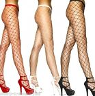 Ladies Sexy Black White or Red Diamond Wide Fence Net Fishnet Tights