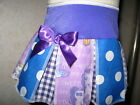 Girls  White,Purple,Blue,My Little Pony,spot,Check,Cheerleader Skirt,Party,Gift