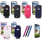 Hybrid Rugged Rubber Matte Hard Case Cover For Samsung Galaxy S4 S IV i9500+Pen