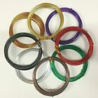 45 FEET ROUND ALUMINUM WRAP CRAFT JEWELRY WIRE CHOOSE COLOR SIZE