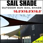 NEW 16.5'x16.5'x16.5' TRIANGLE OUTDOOR SUN SAIL SHADE CANOPY COVER Color Option