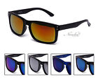 2 Pairs Men Sunglasses with Mirrored Reflective Flash Mirror Lens Various Colors