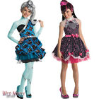 GIRLS MONSTER HIGH DELUXE SWEET 1600 AGE 5/6/7/8/9/10 FANCY DRESS COSTUME / WIG