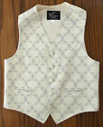 Purple flowers Mens waistcoat cotton mix tuxedo vest Small 38 Large 42  XL 44
