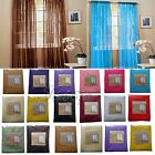 "2 Sheer Voile Window Panel Curtain Drape treatment Scarf Assorted Color 60""X84"""