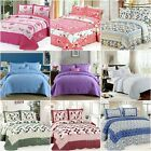 Cotton Queen/King Size Patchwork Quilted Bedspreads Set Coverlet Blanket Throw