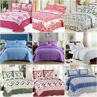12 Designs - King Size Quilted Bedspread/ Coverlet Set New 100% Cotton 240*255cm