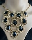 Wholesale Fashion Personality Punk Gold Hollow Stone Statement Necklaces