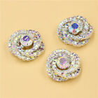 4 PCS Rhinestone Crystal Sewing Shank Button 7/8 inches Trim Embellishment
