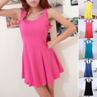 Fashion Multicolor Lady's Candy Color Sweet Modal Vest Casual Sleeveless Dress