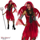 *** SALE *** FANCY DRESS COSTUME D LADIES HALLOWEEN GOTH DEVIL FAIRY SIZE 10-16