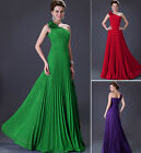 Women's NEW Sexy one shoulder Chiffon Evening Dress Long Formal Party Prom Gown
