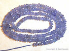 "WHOLESALE TANZANITE 3.5mm diameter FACETED Rondelle 15.5"" 40Ctw"