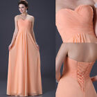 Hot Strapless Tops Designer Chiffon Formal Long maxi Evening Dress Bridesmaids