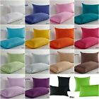 Solid Colour Cotton Standard Or Euro Pillow Cases Decorative Cushion Covers New