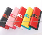 1 pcs in 7 Color Butterfly Metal Women Long Wallet Card Holder Coin Bag Purse