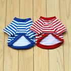 Cute Pet Dog Fashion Bear Striped Warm Puppy Clothes Apparel Costume Top T Shirt