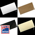 DL Envelopes for Greeting Cards & Invites - White, Ivory, Black, Brown Ribbed