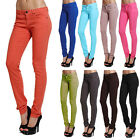 MOGAN Casual Candy Colored SUPER SKINNY JEANS Comfy Slim Fit LowRise DENIM PANTS