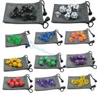 DUNGEONS&DRAGONS RPG Dice Game set of 7 sided die D4 D6 D8 D10 D12 D20 Bag HB003