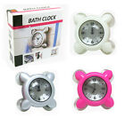 Useful Wall Bath Clock Waterproof Suction Cup for Humid Bathroom Glass Kitchen