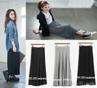 Occident 3Colors Leisure Cotton Long A-line Package Buttocks Women Dress Skirts