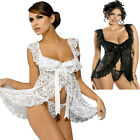 White Lingerie Babydoll Chemise Dress Underwear Plus Size 6 8 10 12 14 16 18 20