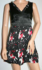 159.MA - Woman's Black Party Dress Size 8 Lady on a horse pattern