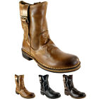 WOMENS FLY LONDON NOTA LEATHER PULL ON MID CALF BOOTS LADIES 3 COLOURS UK 3-8