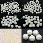 Acrylic Pearl Imitation Beads Round Pearl White Jewelry Making M1040