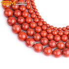 "Genuine Red Jasper Agate Onyx Gemstone Beads Natural Stone Strand 15"" Ball Shape"