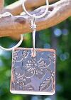 RECYCLED VINTAGE PINK DEPRESSION GLASS JEWELRY ~ SQUARE PENDANT