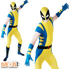 Wolverine 2nd Skin Body Suit Fancy Dress Superhero Character Mens Adult Costume