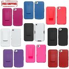 NEW HARD COVER CASE WITH BELT CLIP HOLSTER + KICKSTAND FOR APPLE iPHONE 4 4S 4G