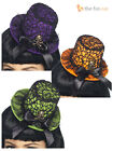 Halloween Mini Top Hat Gothic Burlesque Witch Womens Ladies Fancy Dress Costume