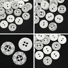 "200 PCs Resin Sewing Buttons Flower Pattern Round 13mm( 4/8"")Dia. M1528"