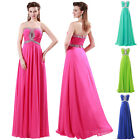 Sexy Strapless Beaded Wedding Party Gown Prom Ball Formal Evening Long Dress New