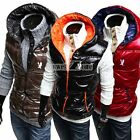 NEW Korean Men Classic Fashion Style Winter Thickened Vest Hooded Coat Tops S0BZ