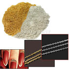 10M Gold Silver Acrylic Tiny Line Chain DIY Nail Art Tip Design Decoration New