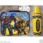 Hasbro Transformers Insulated Lunch Pack Cooler Bag & Crayola Thermo 2pc Set