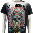 m199b Minute Mirth T-shirt Sz M L Tattoo LIMITED ED w/ BOX NIB Indian Skull Indy