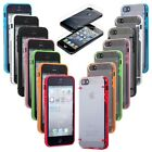 Ultra-thin Transparent TPU Back Bumper Case Cover For iPhone 5 5G 5S + Protector
