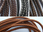 5mm Round Genuine Bolo Braided Leather Cord DIY Craft Jewelry Sell By Yard