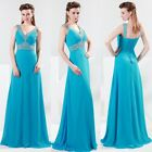 Sexy V-Neck Tunic Ball Gown Evening Prom Party Banquet Bridesmaids Long Dress