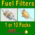 IN-LINE FUEL FILTER Petrol & Diesel - Small, Large 6mm 8mm Stem Hose Pipe Water