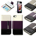 Magnetic Leather Wallet Card Holder Slot Cover Case for Apple iPhone SE/5/5S