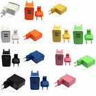7 Colors Cute Universal EU Plug 2 USB Ports MINI Portable Charger Output 5V 2.1A