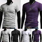 Men's clothing Stylish Casual V-Neck Short sleeve Slim fit T-shirt shirts tops