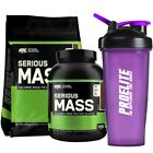 ON Optimum Nutrition Serious Mass 5.4kg/2.7KG Weight Gainer Gain Protein+shaker